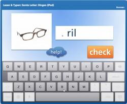 Lezen & Typen: Eerste letter, Dingen (iPad)