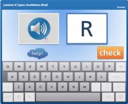 Luisteren & Typen: Hoofdletters (iPad)